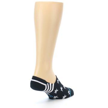 Image of Black White Stars Men's Liner Socks (side-1-back-21)