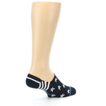 Image of Black White Stars Men's Liner Socks (side-1-back-22)