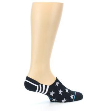 Image of Black White Stars Men's Liner Socks (side-1-23)