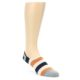Image of Orange Black White Stripe Men's Liner Socks (side-1-front-01)