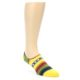 Image of Yellow Red Green Stripe Men's Liner Socks (side-1-front-01)
