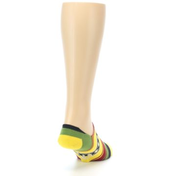 Image of Yellow Red Green Stripe Men's Liner Socks (side-1-back-20)