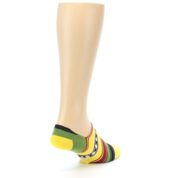 Image of Yellow Red Green Stripe Men's Liner Socks (side-1-back-21)