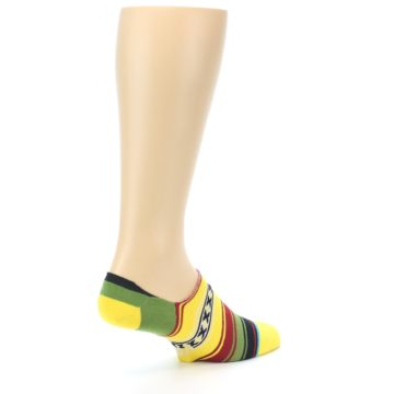 Image of Yellow Red Green Stripe Men's Liner Socks (side-1-back-22)