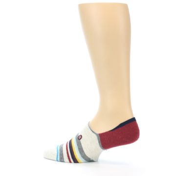 Image of Grey Red Stripe Men's Liner Socks (side-2-13)
