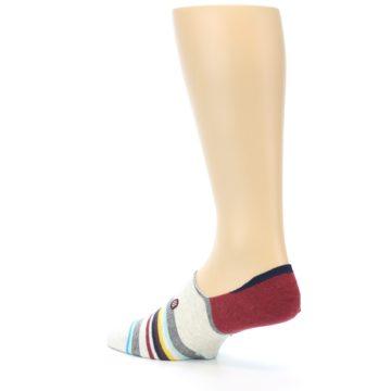 Image of Grey Red Stripe Men's Liner Socks (side-2-back-14)