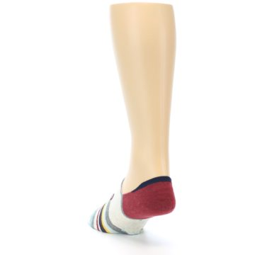 Image of Grey Red Stripe Men's Liner Socks (side-2-back-16)