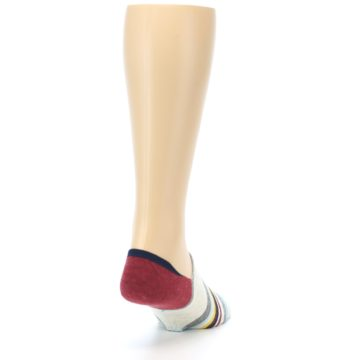 Image of Grey Red Stripe Men's Liner Socks (side-1-back-20)