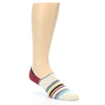 Image of Grey Red Stripe Men's Liner Socks (side-1-27)