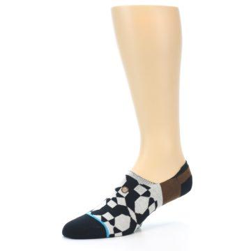 Image of Black Grey Brown Men's Liner Socks (side-2-09)