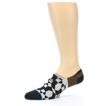 Image of Black Grey Brown Men's Liner Socks (side-2-10)