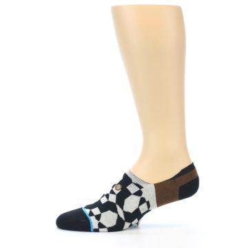 Image of Black Grey Brown Men's Liner Socks (side-2-11)