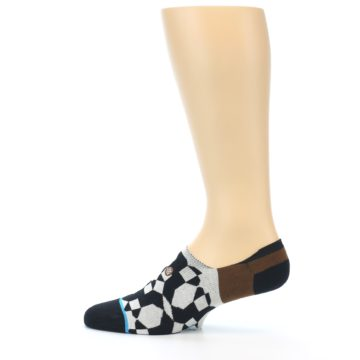 Image of Black Grey Brown Men's Liner Socks (side-2-12)