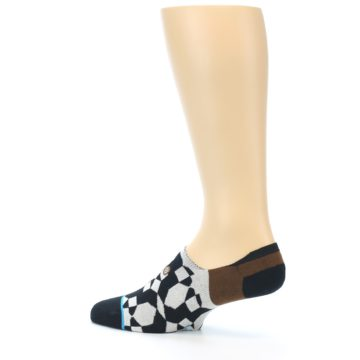 Image of Black Grey Brown Men's Liner Socks (side-2-13)