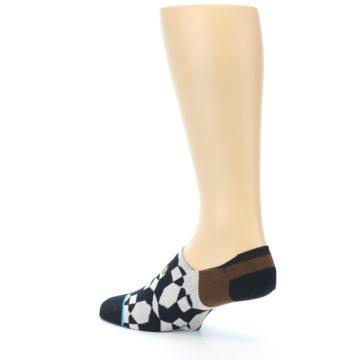 Image of Black Grey Brown Men's Liner Socks (side-2-back-14)