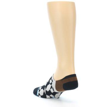 Image of Black Grey Brown Men's Liner Socks (side-2-back-15)