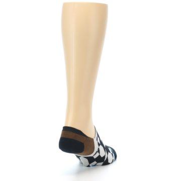 Image of Black Grey Brown Men's Liner Socks (side-1-back-20)
