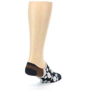 Image of Black Grey Brown Men's Liner Socks (side-1-back-21)