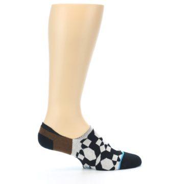 Image of Black Grey Brown Men's Liner Socks (side-1-24)