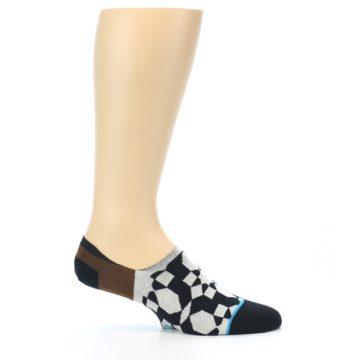 Image of Black Grey Brown Men's Liner Socks (side-1-25)