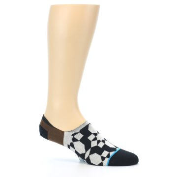 Image of Black Grey Brown Men's Liner Socks (side-1-26)