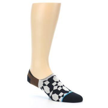 Image of Black Grey Brown Men's Liner Socks (side-1-27)