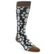Image of Black Grey Geometric Men's Casual Socks (side-1-front-01)