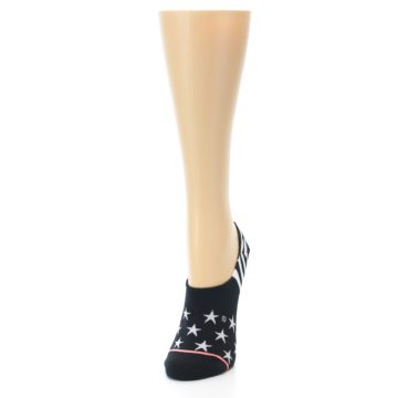 Image of Black White Stars Women's No-Show Socks (side-2-front-06)