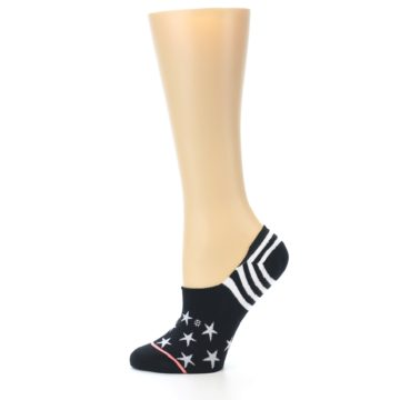 Image of Black White Stars Women's No-Show Socks (side-2-11)