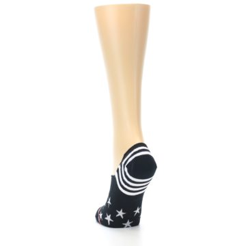 Image of Black White Stars Women's No-Show Socks (side-2-back-16)