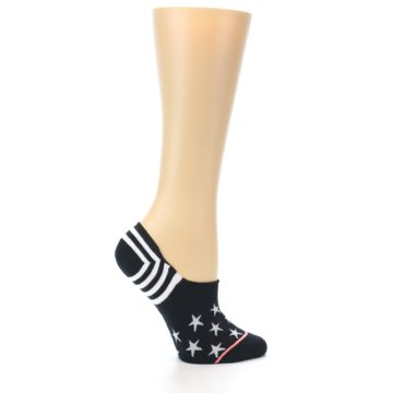 Image of Black White Stars Women's No-Show Socks (side-1-24)