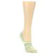 Image of Neon Grey Patterned Women's No-Show Socks (side-1-front-01)