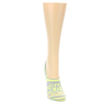 Image of Neon Grey Patterned Women's No-Show Socks (side-1-front-03)