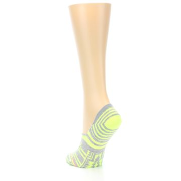 Image of Neon Grey Patterned Women's No-Show Socks (side-2-back-15)