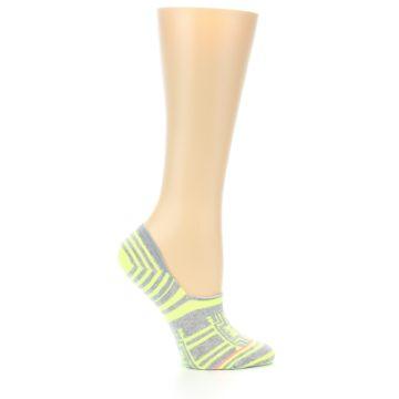 Image of Neon Grey Patterned Women's No-Show Socks (side-1-25)