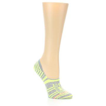 Image of Neon Grey Patterned Women's No-Show Socks (side-1-26)