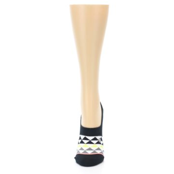Image of Black White Triangles Women's No-Show Socks (front-05)