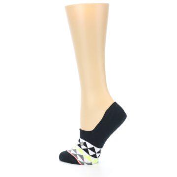 Image of Black White Triangles Women's No-Show Socks (side-2-13)