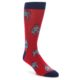 Image of Red Grey Sumo Wrestler Men's Dress Socks (side-1-front-01)