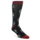 Image of Black Grey Red Robot Men's Dress Socks (side-1-front-01)
