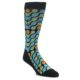 Image of Black Green Blue Stripes Men's Dress Socks (side-1-front-01)