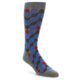 Image of Grey Blue Red Stripes Men's Dress Socks (side-1-front-01)