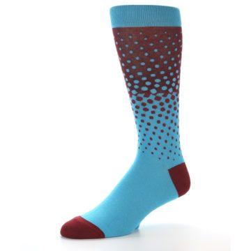 Image of Red Blue Dots Men's Dress Sock (side-2-09)