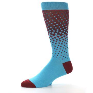 Image of Red Blue Dots Men's Dress Sock (side-2-10)