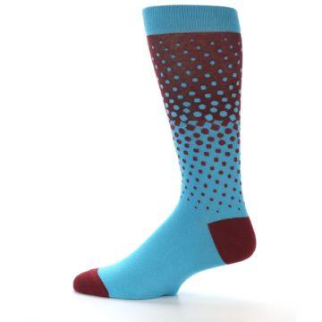 Image of Red Blue Dots Men's Dress Sock (side-2-12)