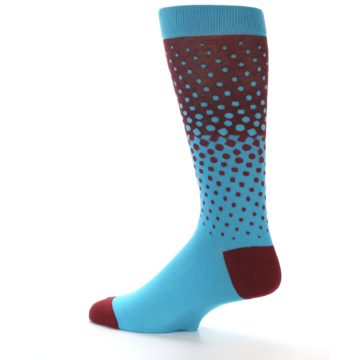 Image of Red Blue Dots Men's Dress Sock (side-2-13)