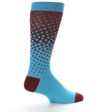 Image of Red Blue Dots Men's Dress Sock (side-1-23)