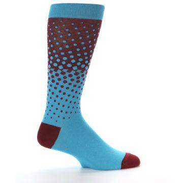 Image of Red Blue Dots Men's Dress Sock (side-1-24)