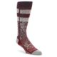 Image of Red White Floral Pattern Men's Dress Socks (side-1-front-01)
