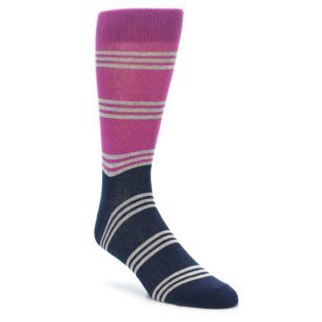 Men's Fuchsia Striped Socks